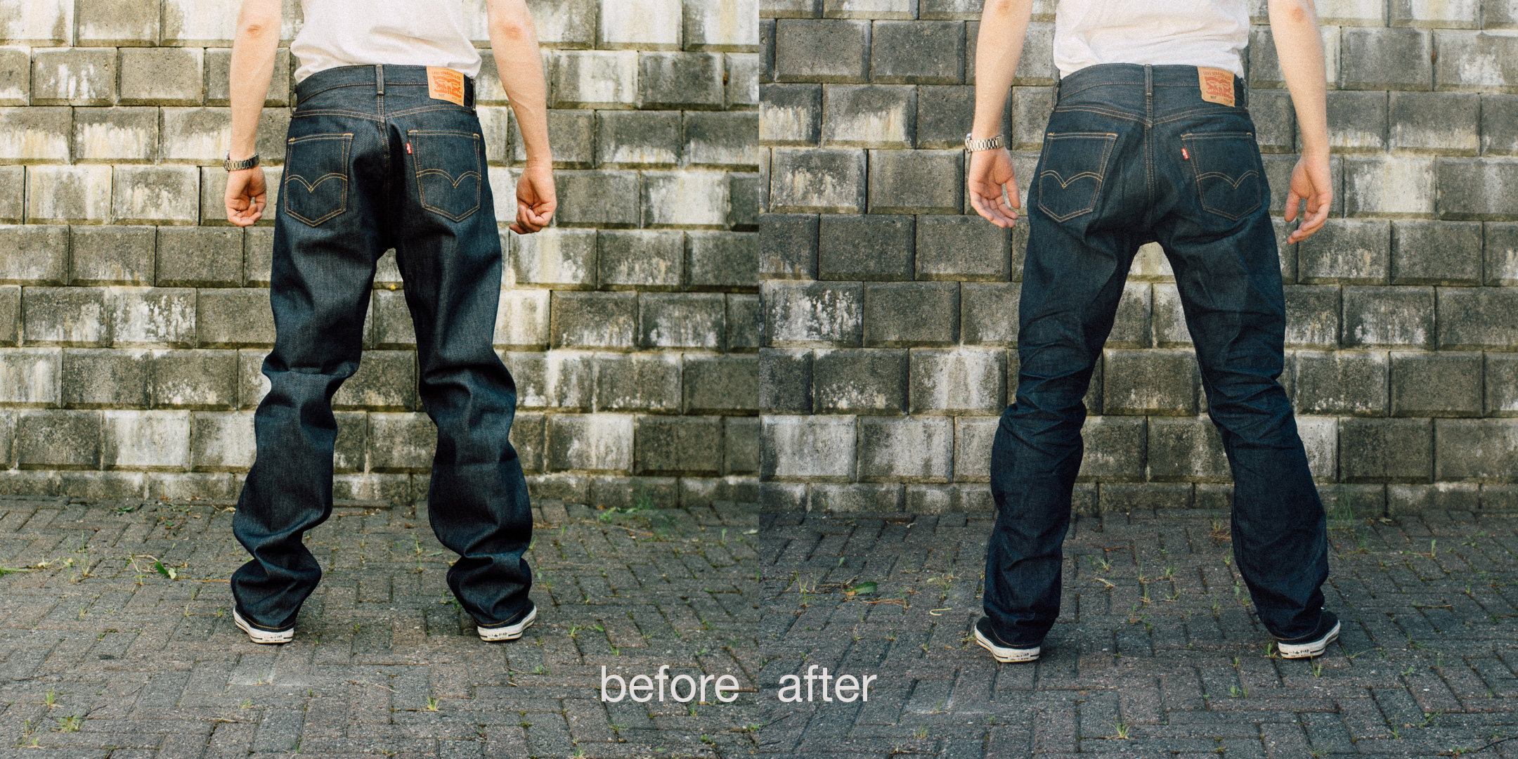 Shrink your jeans with tailored jeans.